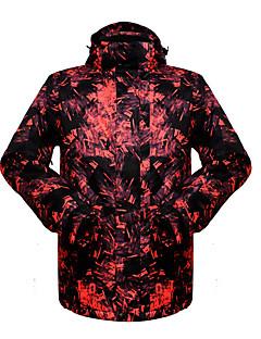 Roupa de Esqui Jaquetas de Esqui/Snowboard Blusas Homens Roupa de Inverno Poliéster Floral / Botânico Vestuário de InvernoTérmico/Quente