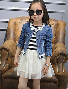 Girl's Casual/Daily Solid Clothing Set,Cotton / Others Spring Blue Suit