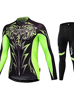 MALCIKLO® Cycling Jersey with Tights Men's Short Sleeve BikeBreathable / Quick Dry / Front Zipper / Wearable / High Breathability