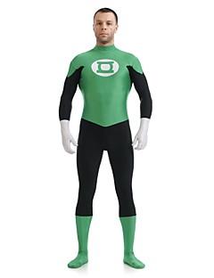 Zentai Suits Super Heroes Zentai Cosplay Costumes Green Patchwork Leotard/Onesie / Zentai Lycra / Spandex UnisexHalloween / Christmas /