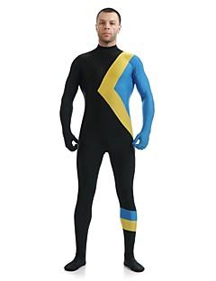 Multi-Color Zentai Suits Super Heroes Lycra / Spandex Patchwork Black Unisex Leotard/Fantastic Four Zentai
