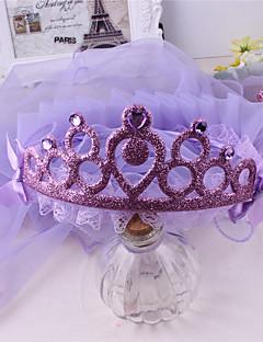 Menina das Flores Tecido Capacete-Casamento / Casual Tiaras 1 Peça Roxo / Azul / Rosa Redonde 34cm