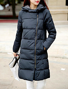 Women's Solid Multi-color Down Coat,Simple Stand Long Sleeve