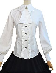 Sweet Lolita Blouse/Shirt Long Sleeve N/A White / Black Lolita Dress FRP