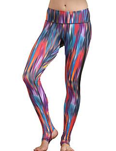 מכנסיים יוגה אימונית נושם / חדירות גבוהה לאוויר (מעל 15,000 גרם) / דחיסה / נוח טבעי גמישות גבוהה בגדי ספורט אדום / פוקסיה לנשים ספורטיבי