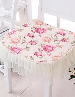 Kvadrat Mønstret Blomst Duge Stolepuder , Polyester Materiale Hotel Spisebord
