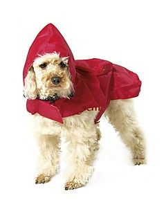 Cat Dog Rain Coat Dog Clothes Summer Spring/Fall Solid Waterproof Black Red Blue