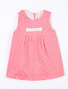 Baby Casual/Daily Polka Dot Dress,Cotton Fall Red