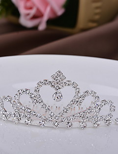 Women's Children Crown Bridal Heart Silver Tiaras for Wedding Party Special Occasion