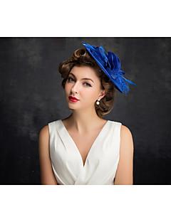 נשים נוצה טול פשתן רשת כיסוי ראש-אירוע מיוחד קישוטי שיער חלק 1