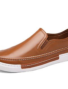 Herren-Loafers & Slip-Ons-Outddor Lässig Sportlich-Mikrofaser-Flacher Absatz-Komfort-Schwarz Braun Gelb Rot Weiß Grau