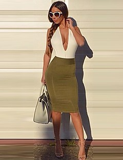 Women's Sexy Bodycon Casual Dress (Spandex/Polyester)