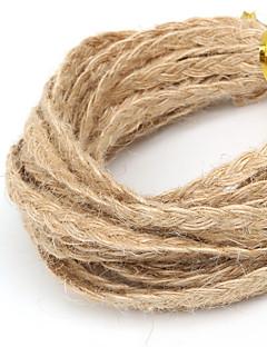 beadia aproximadamente 5mm trançado cabo de juta do cânhamo natural para a tomada de artesanato de jóias DIY (5mts)