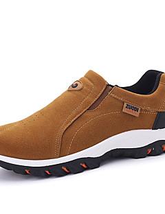 Herren Loafers & Slip-Ons Komfort Wildleder Frühling Herbst Normal Walking Komfort Flacher Absatz Schwarz Grau Khaki Flach