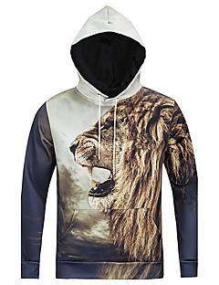Sweat à capuche Homme Décontracté / Quotidien 3D Print Coton Polyester Manches longues Toutes les Saisons