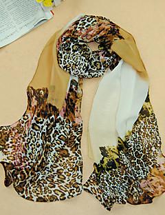Damen Retro / Niedlich / Freizeit Chiffon Schal,Rechteck Leopard Ganzjährig
