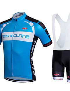 Fastcute Camisa com Bermuda Bretelle Homens Mulheres Unisexo Manga Curta Moto Calções Bibes Camisa/Roupas Para Esporte Tights Bib Pulôver