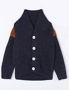 Jungen Pullover & Cardigan-Lässig/Alltäglich einfarbig Baumwolle Herbst Blau