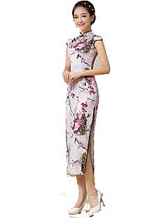 Klasszikus és hagyományos Lolita Szoknya Ujjatlan Hosszú hossz Rózsaszín Lolita ruha Selyem