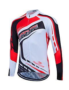 Fastcute Camisa para Ciclismo Homens Mulheres Unisexo Manga Longa Moto Pulôver Camisa/Roupas Para Esporte Blusas Secagem Rápida Zíper