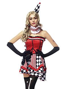 הופעות תלבושות בגדי ריקוד נשים ביצועים פוליאסטר דפוס / הדפסה / פיק אפ / Ruched 5 חלקים בלי שרוולים טבעי כפפות / שמלות / Neckwear / כובע