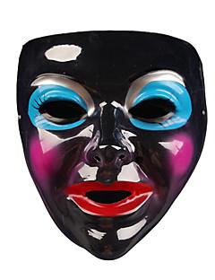Haloween Figuren / Maskerade Engel & Teufel Fest/Feiertage Halloween Kostüme Schwarz Druck / Patchwork Maske Halloween Unisex PVC