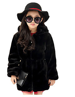Girl's Casual/Daily Solid Down & Cotton PaddedCotton / Rayon Winter / Spring / Fall Black / Beige