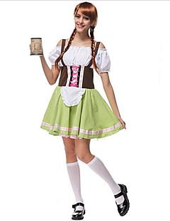 Cosplay Kostýmy / Kostým na Večírek Oktoberfest / Kariéra kostýmy Festival/Svátek Halloweenské kostýmy Zelená Barevné bloky Sukně