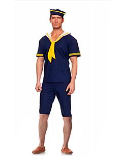 Costumes Uniforms Halloween Blue Solid Terylene Top / Pants / More Accessories