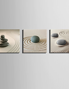 E-HOME® Stretched Canvas Art The Desert Stone Decoration Painting  Set of 3