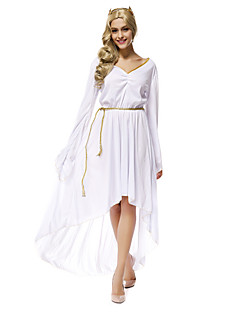 Performance Outfits Women's Performance Pleated 3 Pieces White Performance Long Sleeve Natural Belt / Dress / Headpieces