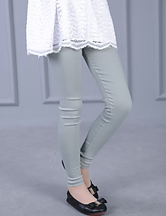 Girl's Casual/Daily Solid LeggingsCotton Fall Black / Gray