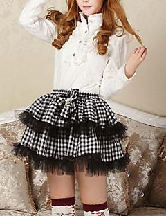 Sexy Plaid Goth Punk Lolita School Club Mini Vitt och svart kjol