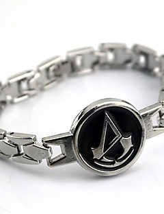 Jewelry Inspired by Assassin's Creed Connor Anime Cosplay Accessories Bracelet Silver Alloy Male / Female