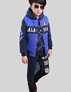 Boy's Casual/Daily Print Hoodie & Sweatshirt / Clothing SetRayon Winter / Spring / Fall Blue / Orange / Yellow / Gray