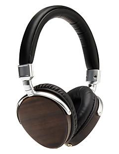 HI-FI Over-the-Ear Headphones Ebony Wood Earphones Headband DJ /Music Headsets 50mm Diameter Speaker /Drivers
