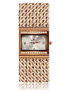 SOXY Dame Selskapsklokke Moteklokke Armbåndsur Imitasjon Diamant Quartz Legering Band Armring Elegante klokker Rose Gull
