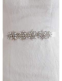 Satin Bryllup Fest/aften Hverdag Ordensbånd-Perler Krystal Rhinsten Dame 98.5 tommer (ca. 250cm) Perler Krystal Rhinsten