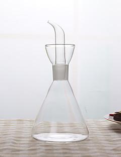 1pc tætte glas gennemsigtig husstand køkken olietank sojasovs pot