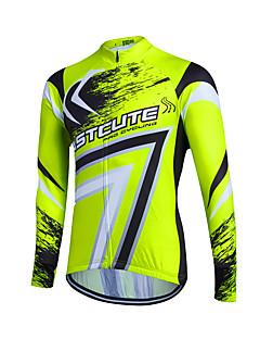 fastcute חולצת ג'רסי לרכיבה לנשים לגברים לילדים יוניסקס שרוול ארוך אופנייםנושם שמור על חום הגוף ייבוש מהיר רוכסן קדמי רך נוח רוכסן YKK