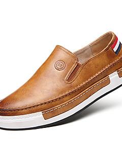 Bărbați Pantofi Flați Primăvară / Toamnă / Iarnă Confortabili / Vârf Rotund / Vârf Inchis Imitație de Piele Casual Toc Plat AlteleNegru /