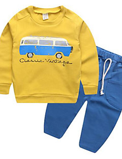 Boy's Casual/Daily Print Hoodie & Sweatshirt / SleepwearCotton Spring / Fall Pink / Red / White / Yellow / Gray