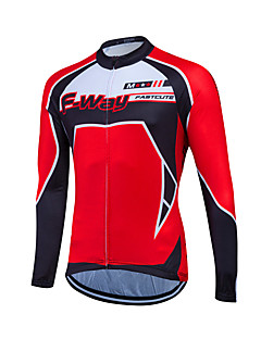 Fastcute® Cycling Jersey Women's / Men's / Unisex Long Sleeve BikeBreathable / Quick Dry / Front Zipper / Sweat-wicking / Soft / YKK