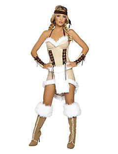 Cosplay Kostýmy / Kostým na Večírek Pirát Festival/Svátek Halloweenské kostýmy Slonová kost Jednobarevné Šaty / Doplňky do vlasů / Náramek