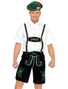 Cosplay-Asut Juhla-asu Oktoberfest Tarjoilija Festivaali/loma Halloween-asut Musta/Valkoinen Patchwork Trikoot/Kokopuku Pusero Hat