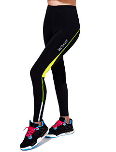WOSAWE Cycling Pants Unisex Bike Pants/Trousers/Overtrousers Tights BottomsBreathable Compression 3D Pad Limits Bacteria Reflective