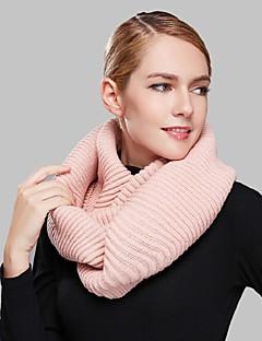 Damen Freizeit Acryl Schal,Infinity-Schal einfarbig Winter Rot / Schwarz / Grün / Braun / Rosa / Orange / Khaki