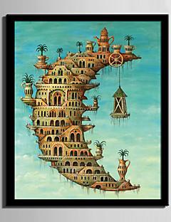 E-HOME® Framed Canvas Art, Moon Castle Framed Canvas Print One Pcs