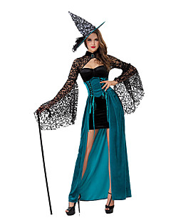 Costumes More Costumes Halloween Sky Blue Solid Terylene Dress / More Accessories