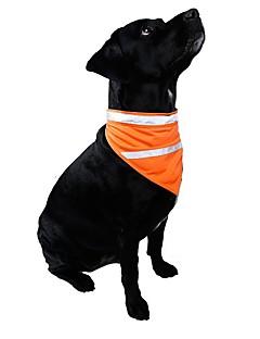 Gatos / Cães Colares / Gravata/Gravata Borboleta Laranja / Amarelo Roupas para Cães Inverno / Verão / Primavera/Outono Cor Única / Riscas